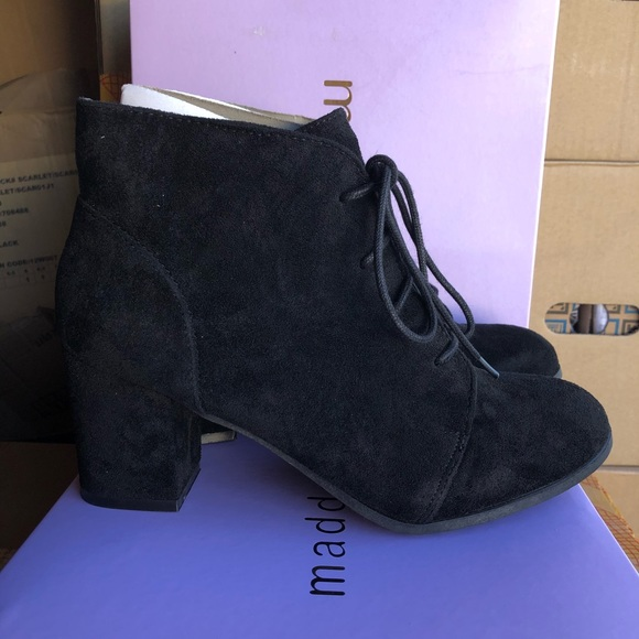 Madden Girl Shoes - MADDEN GIRL Women's Torch Black ANKLE BOOTES 9
